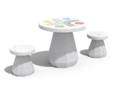 Tavolo da ludo rotondo in calcestruzzo188 | Tavolo da gioco - ENCHO ENCHEV - ETE