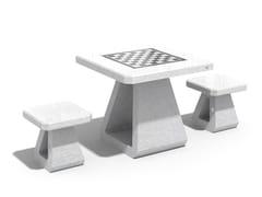 Tavolo da scacchi in calcestruzzo190 | Tavolo da gioco - ENCHO ENCHEV - ETE