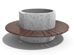 Panchina circolare modulare in calcestruzzo con fioriera integrata193 | Panchina con fioriera integrata - ENCHO ENCHEV - ETE