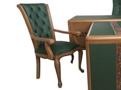 Sedia in ecopelle con braccioliSedia con braccioli - ADELFI LUXURY