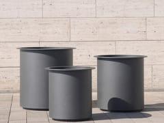BENKERT BANKE, PLANTER 200 Fioriera per spazi pubblici rotonda in acciaio inox