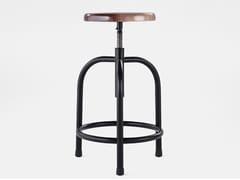 Sgabello da bar in acciaio e legno201 - G | Sgabello - ADICO