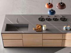 CERAMICA FONDOVALLE, 20PURE Top cucina in gres porcellanato effetto pietra
