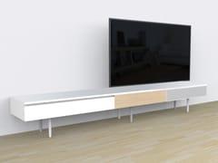 Mobile TV in rovere con cassetti21 | Mobile TV - CP PARQUET
