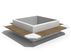 Panchina in calcestruzzo con fioriera integrata con schienale213 | Panchina con fioriera integrata - ENCHO ENCHEV - ETE