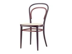 Sedia in legno massello con schienale aperto 214 RE-SEEN - 214