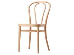 Sedia in legno con seduta in compensato sagomato 218 M - 218
