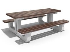 Tavolo da picnic in calcestruzzo e legno219   Tavolo da picnic - ENCHO ENCHEV - ETE