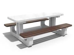Tavolo da picnic in calcestruzzo e legno220   Tavolo da picnic - ENCHO ENCHEV - ETE