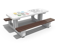 Tavolo per spazi pubblici / tavolo da gioco in calcestruzzo221 | Tavolo da gioco - ENCHO ENCHEV - ETE