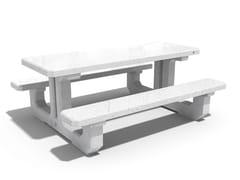 Tavolo da picnic in calcestruzzo con panchine integrate222 | Tavolo da picnic - ENCHO ENCHEV - ETE