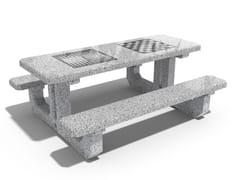 Tavolo per spazi pubblici / tavolo da gioco in calcestruzzo223 | Tavolo da gioco - ENCHO ENCHEV - ETE