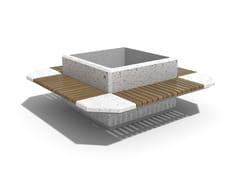 Panchina in calcestruzzo con fioriera integrata con schienale225 | Panchina con fioriera integrata - ENCHO ENCHEV - ETE