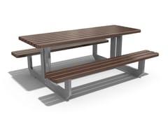 Tavolo da picnic in metallo e legno con panchine integrate228 | Tavolo da picnic - ENCHO ENCHEV - ETE