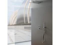 Miscelatore per doccia a 3 fori in acciaio inox con soffione22MM   Miscelatore per doccia con soffione - RUBINETTERIE 3M
