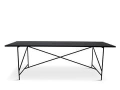230 | Tavolo in acciaio e legno