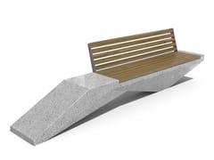 Panchina in calcestruzzo e legno con schienale246 | Panchina in calcestruzzo - ENCHO ENCHEV - ETE