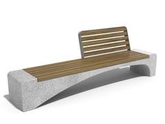 Panchina in calcestruzzo e legno con schienale247 | Panchina in calcestruzzo - ENCHO ENCHEV - ETE