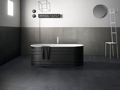 GranitiFiandre, 250 F FROST Pavimento/rivestimento in gres porcellanato effetto cemento effetto resina per interni ed esterni
