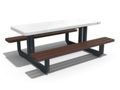 Tavolo da picnic rettangolare in calcestruzzo con panchine integrate251 | Tavolo da picnic - ENCHO ENCHEV - ETE