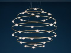Lampada a sospensione a LED in ottone 28 PETITS BIJOUX - CATELLANI & SMITH