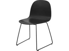 Sedia a slitta in legno2D DINING CHAIR | Sledge base - GUBI