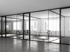 Parete mobile in vetro temperato per ufficio3-6-9 - ESTEL GROUP