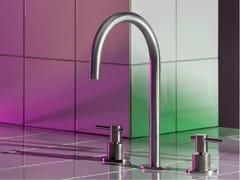 Miscelatore per lavabo a 3 fori da piano in acciaio inoxHELM ZHL516 - ZUCCHETTI RUBINETTERIA