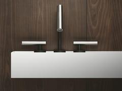 Rubinetto per lavabo a 3 fori da piano in acciaio inox CILINDRO | Rubinetto per lavabo a 3 fori - Cilindro