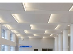 HunterDouglas Architectural, DOGHE LARGHE PER INTERNI Pannelli per controsoffitto acustico in metallo
