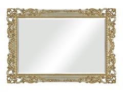 Specchio rettangolare foglia argento con cornice da parete35TH ANIVERSARY 2551 - SCAPPINI & C. CLASSIC FURNITURE