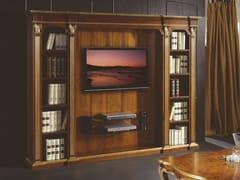 Mobile TV in legno con libreria35TH ANNIVERSARY 2007 - SCAPPINI & C. CLASSIC FURNITURE