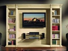 Mobile TV in legno con libreria35TH ANNIVERSARY 2008 | Mobile TV - SCAPPINI & C. CLASSIC FURNITURE