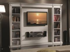 Mobile TV in legno con libreria35TH ANNIVERSARY 2009 - SCAPPINI & C. CLASSIC FURNITURE