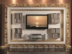 Mobile TV in legno con libreria con porta tv35TH ANNIVERSARY 2203-2204 - SCAPPINI & C. CLASSIC FURNITURE
