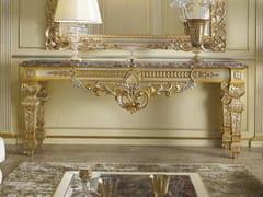 Consolle rettangolare foglia oro/argento con piano in marmo35TH ANNIVERSARY 2550-M - SCAPPINI & C. CLASSIC FURNITURE