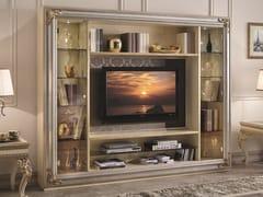 Mobile TV in legno e vetro con libreria35TH ANNIVERSARY 2900 - SCAPPINI & C. CLASSIC FURNITURE