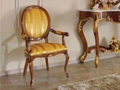 Sedia a medaglioni con braccioli in legno e tessuto35TH ANNIVERSARY SE 149/A - SCAPPINI & C. CLASSIC FURNITURE