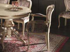Sedia con braccioli in legno imbottita in tessuto35TH ANNIVERSARY SE 266/A - SCAPPINI & C. CLASSIC FURNITURE