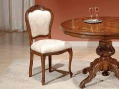 Sedia a medaglione in legno con imbottitura in tessuto35TH ANNIVERSARY SE 266 - SCAPPINI & C. CLASSIC FURNITURE