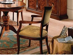 Sedia con braccioli in legno imbottita in tessuto35TH ANNIVERSARY SE 292/A - SCAPPINI & C. CLASSIC FURNITURE