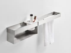 Porta asciugamani a barra in acciaio inox368 - 36 cm - AGAPE