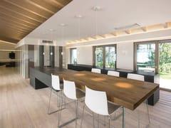 Cucina in Fenix-NTM® con isola36E8 FENIX | Cucina con isola - LAGO