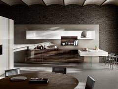 Cucina con penisola36E8 WOOD XGLASS - LAGO