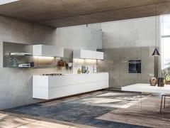 Cucina lineare sospesa36E8 GLASS | Cucina lineare - LAGO