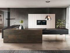Cucina componibile con isola36E8 MARBLE XGLASS 1094   Cucina - LAGO