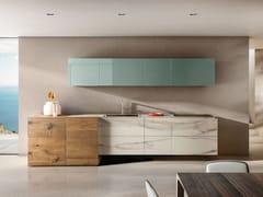 Cucina componibile lineare36E8 MARBLE XGLASS 1096   Cucina lineare - LAGO