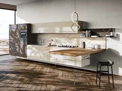 Cucina con penisola36E8 MARBLE XGLASS | Cucina con penisola - LAGO