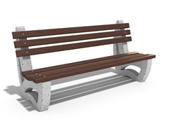 Panchina in calcestruzzo e legno con schienale39 | Panchina in calcestruzzo - ENCHO ENCHEV - ETE
