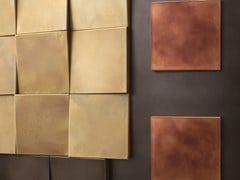 DE CASTELLI, 3D WALL Rivestimento a parete con moduli trapezoidali in metallo